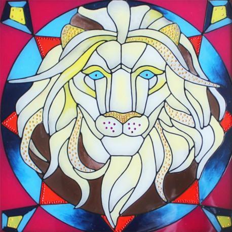 Благородный лев Набор с рамкой для создания картины-витража Color Kit