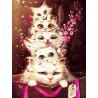 Пушистые отношения Раскраска - открытка по номерам с декором Color Kit