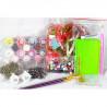 Состав набора Раскраска - открытка по номерам с декором Color Kit