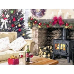 Рождественское настроение Раскраска - открытка по номерам с декором Color Kit