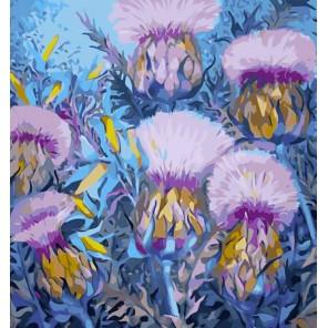 Цветок-оберег Раскраска - открытка по номерам с декором Color Kit