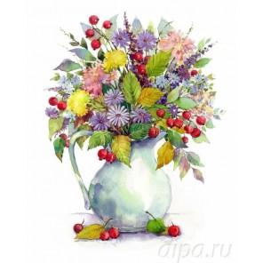Букет с одуванчиками и ягодами Алмазная мозаика на подрамнике