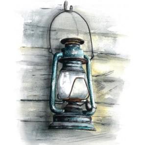Керосиновая лампа Алмазная мозаика на подрамнике