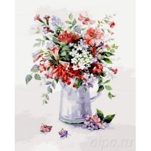 Цветочная рапсодия Раскраска картина по номерам на холсте Menglei