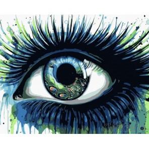 Павлиний глаз Раскраска картина по номерам на холсте Menglei