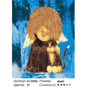 Количество цветов и сложность Ангел доброты Раскраска картина по номерам на холсте