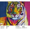 Тигр поп-арт Картина по номерам на дереве Dali
