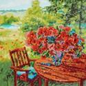 Маки у реки Алмазная картина-раскраска Color Kit