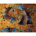 Леопард Алмазная картина-раскраска Color Kit