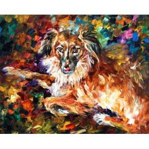 Породистый пес Алмазная картина-раскраска Color Kit