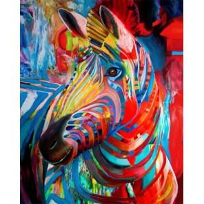 Радужная зебра Алмазная картина-раскраска Color Kit