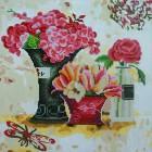 Розовый аромат Алмазная картина-раскраска Color Kit