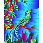 Райская птица Набор с рамкой для создания картины-витража Color Kit