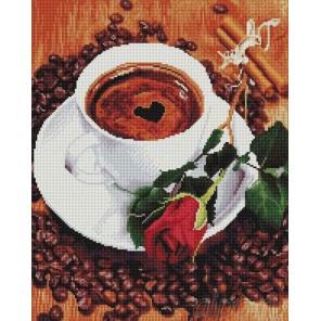 Кофе для любимой Алмазная мозаика вышивка на подрамнике Painting Diamond