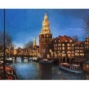 Огни Амстердама Раскраска картина по номерам на холсте