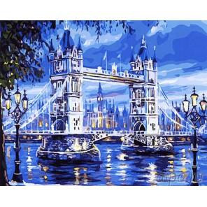 Лондонский мост Раскраска картина по номерам на холсте