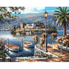 Итальянская гавань Раскраска картина по номерам на холсте