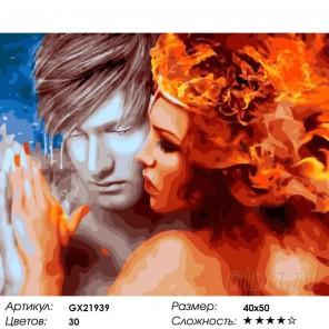 Количество цветов и сложность Лед и пламень Раскраска картина по номерам на холсте