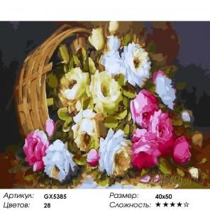 Количество цветов и сложность Россыпь цветов Раскраска картина по номерам на холсте