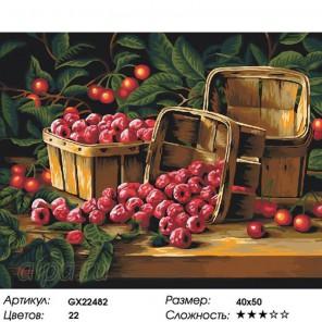 Количество цветов и сложность Ягодный день Раскраска картина по номерам на холсте