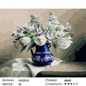Букет крокусов Раскраска картина по номерам на холсте