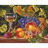 Сочные фрукты Раскраска картина по номерам на холсте