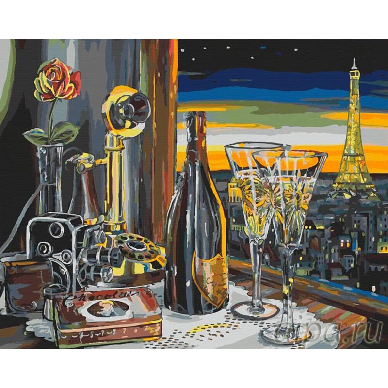 Окно в Париж Раскраска картина по номерам на холсте ...