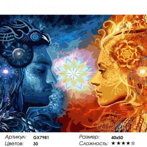 Количество цветов и сложность Единение Раскраска картина по номерам на холсте