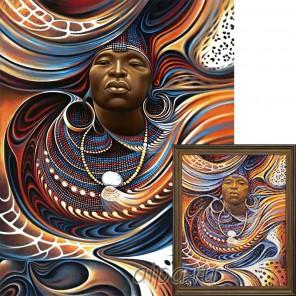 Вождь Африки Алмазная вышивка (мозаика) Гранни
