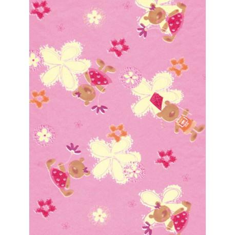 Мишки на розовом Бумага для декопатча Decopatch