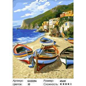 Количество цветов и сложность Греческий остров Раскраска картина по номерам на холсте