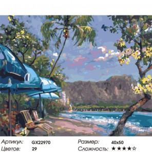 Количество цветов и сложность Свежесть прибоя Раскраска картина по номерам на холсте