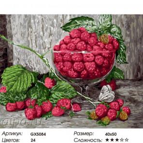 Малиновый натюрморт Раскраска картина по номерам на холсте