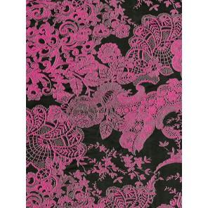 Кружево черно-розовое Бумага для декопатча Decopatch