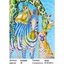 Веселый зоопарк Раскраска картина по номерам на холсте