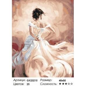 Количество цветов и сложность Девушка в бальном платье Раскраска картина по номерам на холсте