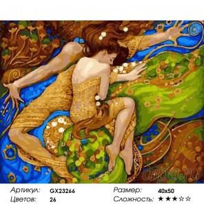 Сон влюбленных Раскраска картина по номерам на холсте