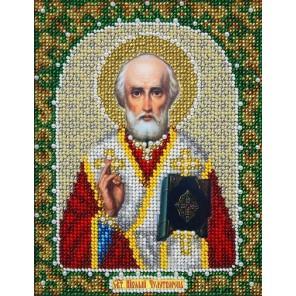 Святой Николай Набор для частичной вышивки бисером Паутинка