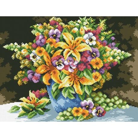 Букет с лилиями Алмазная мозаика вышивка Паутинка