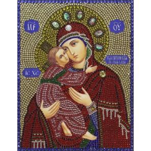 Владимирская Богородица алмазная вышивка термостразами Преобрана