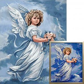 Ангел с цветами Алмазная вышивка мозаика Гранни