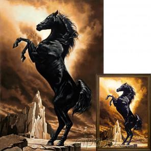 Могучий конь Алмазная вышивка мозаика Гранни