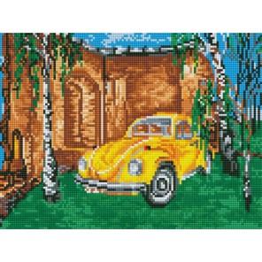 Желтый автомобиль Алмазная мозаика на подрамнике