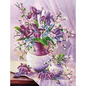 Цветочное утро (Триши Хардвик) Алмазная мозаика на подрамнике