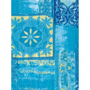 Орнамент на голубом Бумага для декопатча Decopatch