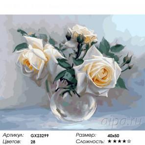 Сложность и количество цветов Розы. Игорь Бузин Раскраска картина по номерам на холсте