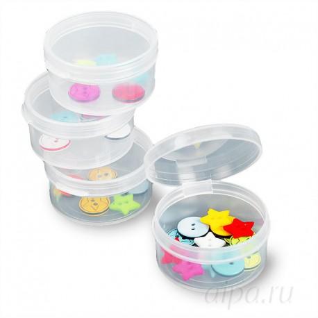 Круглые контейнеры для хранения мелочей 4 шт