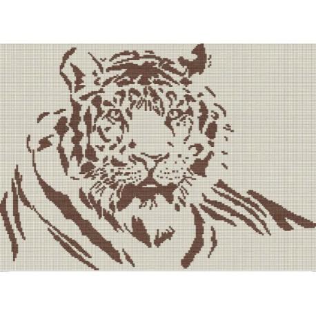 Тигр (беж.) Набор для вышивания МП Студия