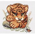 Тигрёнок и жук Набор для вышивания МП Студия