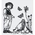 Мальчик с курицей (графика) Набор для вышивания МП Студия